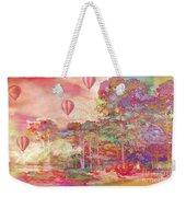 Pink Hot Air Balloons Abstract Nature Pastels - Dreamy Pastel Balloons Weekender Tote Bag