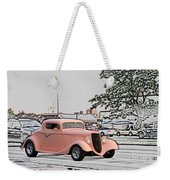 Pink Hot Rod Cruising Woodward Avenue Dream Cruise Selective Coloring Weekender Tote Bag