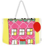 Pink House Weekender Tote Bag by Linda Woods