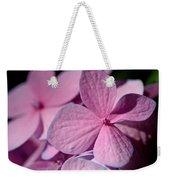 Pink Hydrangea Weekender Tote Bag by Rona Black