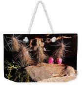 Pink Lady Cactus Weekender Tote Bag