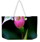 Pink Lady's Slipper Weekender Tote Bag
