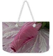 Pink Lavatera Bud Macro Weekender Tote Bag