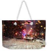 Pink Lights In Snowtrax Weekender Tote Bag