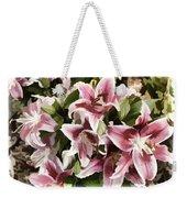 Pink Lilies I Weekender Tote Bag