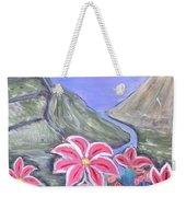 Pink Lillies Weekender Tote Bag