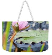 Pink Lily And Pads Weekender Tote Bag