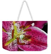 Pink Lily Painterly Weekender Tote Bag