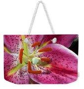 Pink Lily Up Close Weekender Tote Bag