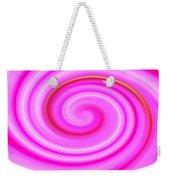 Pink Lollipop Swirl Weekender Tote Bag