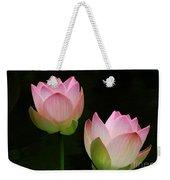 Pink Lotus Duet Weekender Tote Bag