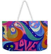 Pink Love Graffiti Nyc 2014 Weekender Tote Bag