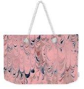 Pink Marble Weekender Tote Bag