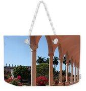 Pink Marble Colonnade Weekender Tote Bag