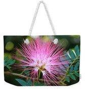 Pink Mimosa Flower Weekender Tote Bag
