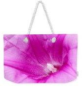 Pink Morning Glory Flower Macro Weekender Tote Bag