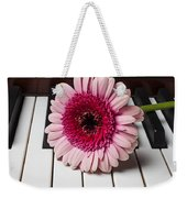 Pink Mum On Piano Keys Weekender Tote Bag