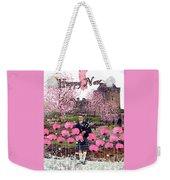Pink New Year Greeting Weekender Tote Bag