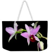 Pink Orchids Cascading Weekender Tote Bag