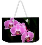 Pink Orchids In A Row Weekender Tote Bag
