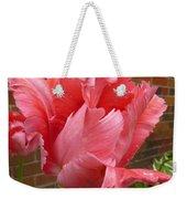 Pink Parrot Tulip Weekender Tote Bag