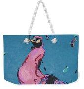 Pink Peacock Full View Weekender Tote Bag