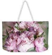 Pink Peonies Bouquet - Square Weekender Tote Bag
