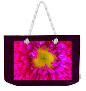 Pink Petals Envelop A Yellow Center An Abstract Flower Painting Weekender Tote Bag