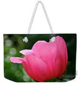 Pink Petals Green Diamonds Weekender Tote Bag