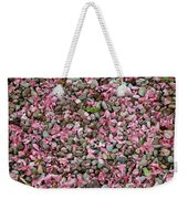 Pink Petals On Stones  Weekender Tote Bag