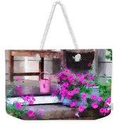 Pink Petunias And Watering Cans Weekender Tote Bag