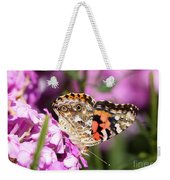 Pink Phlox With Butterfly Weekender Tote Bag