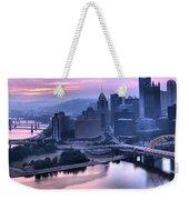 Pink Pittsburgh Morning Weekender Tote Bag