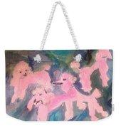 Pink Poodle Polka Weekender Tote Bag