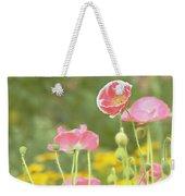Pink Poppies Weekender Tote Bag