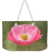 Pink Poppy Flower Weekender Tote Bag