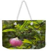 Pink Powderpuff Blossom Weekender Tote Bag