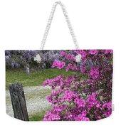 Pink Purple Mississippi Blooms Weekender Tote Bag