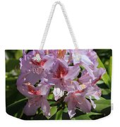 Pink Rhododendron In Sunshine Weekender Tote Bag