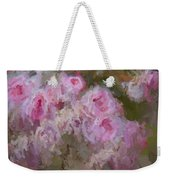 Pink Rose Abstract Weekender Tote Bag