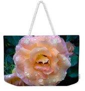 Pink Rose Bathed In Rain Weekender Tote Bag