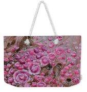 Pink Rose Birdies Weekender Tote Bag