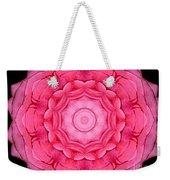 Pink Rose Bouquet Kaleidoscope Weekender Tote Bag
