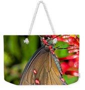 Pink Rose Butterfly Weekender Tote Bag