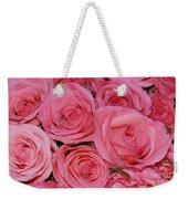 Pink Rose Closeup Weekender Tote Bag