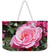 Pink Rose Flower Floral Art Prints Roses Weekender Tote Bag