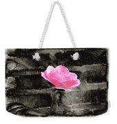 Pink Rose In Black And White Weekender Tote Bag