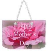 Pink Rose Mother's Day Card Weekender Tote Bag