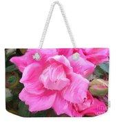 Pink Rose Painting  Weekender Tote Bag