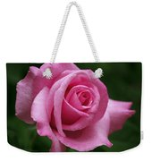 Pink Rose Perfection Weekender Tote Bag by Rona Black